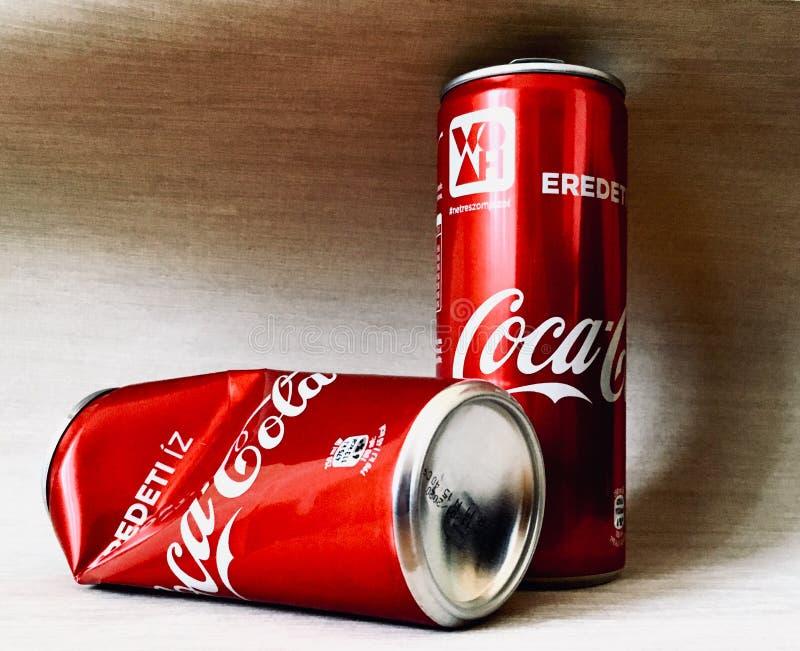 Latte di Coca-Cola fotografia stock