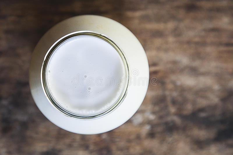 Latte di cocco fotografia stock