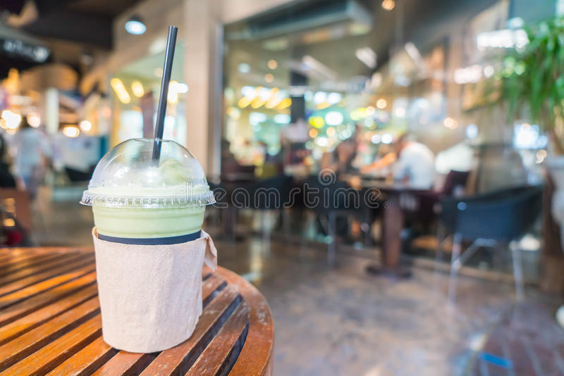 latte di matcha di frappuccino fotografie stock libere da diritti