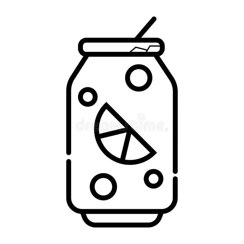 Latte di soda con il tubo royalty illustrazione gratis