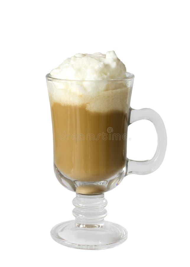 Latte do café com creme wipped fotografia de stock royalty free