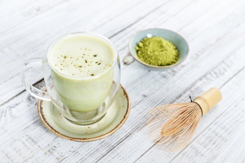 Latte do chá verde de Matcha fotos de stock