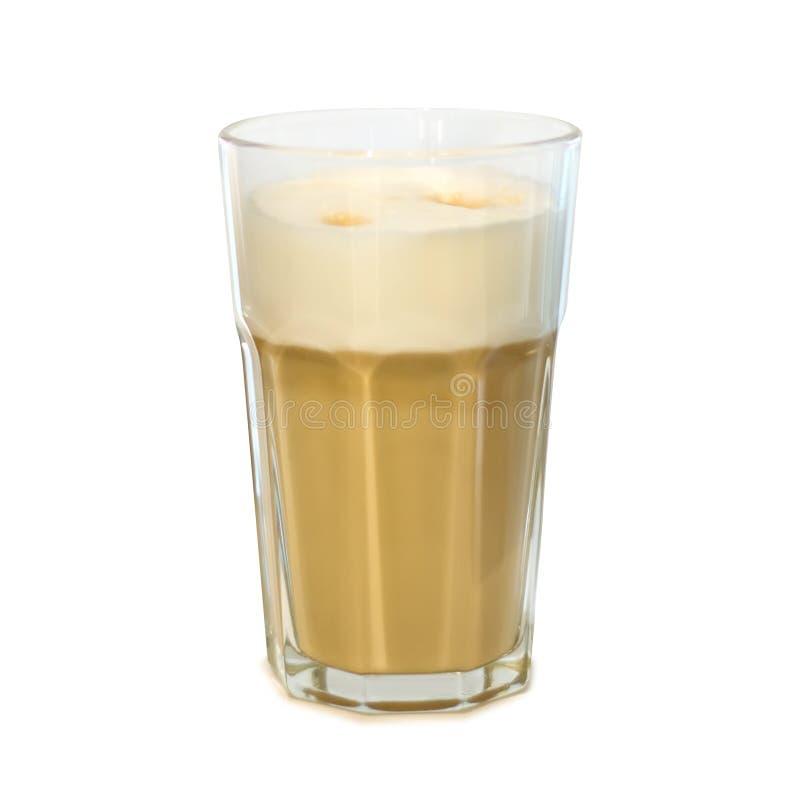 Latte in einer Glasschale lizenzfreie stockbilder