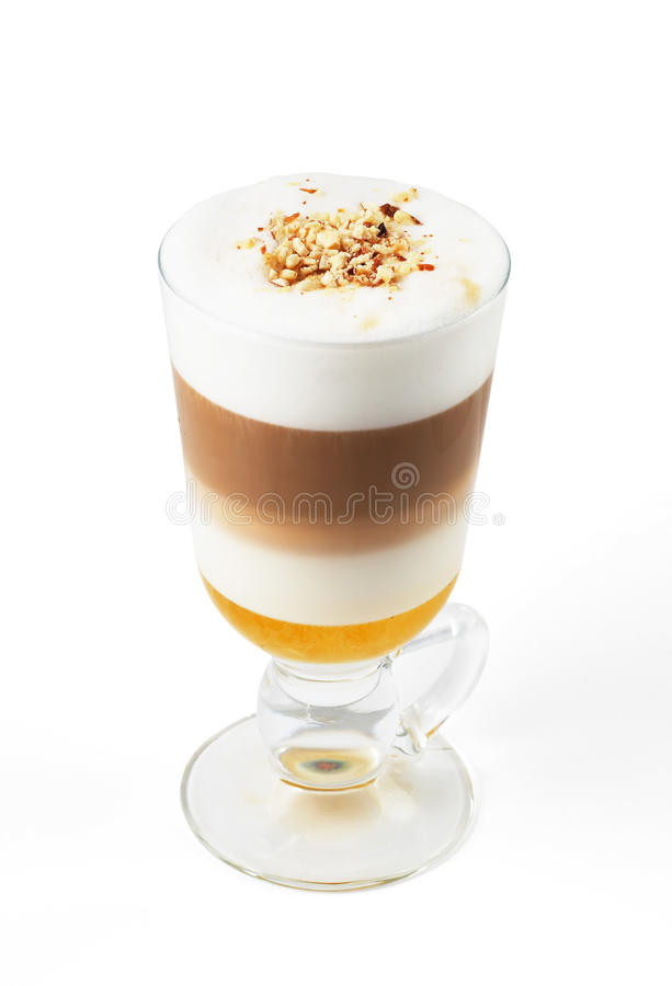 Latte With Honey Stock Image