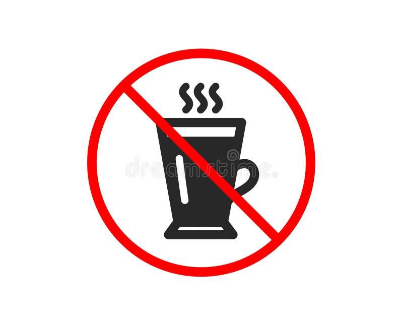 latte ikona Gorący kawy lub herbaty znak wektor ilustracja wektor