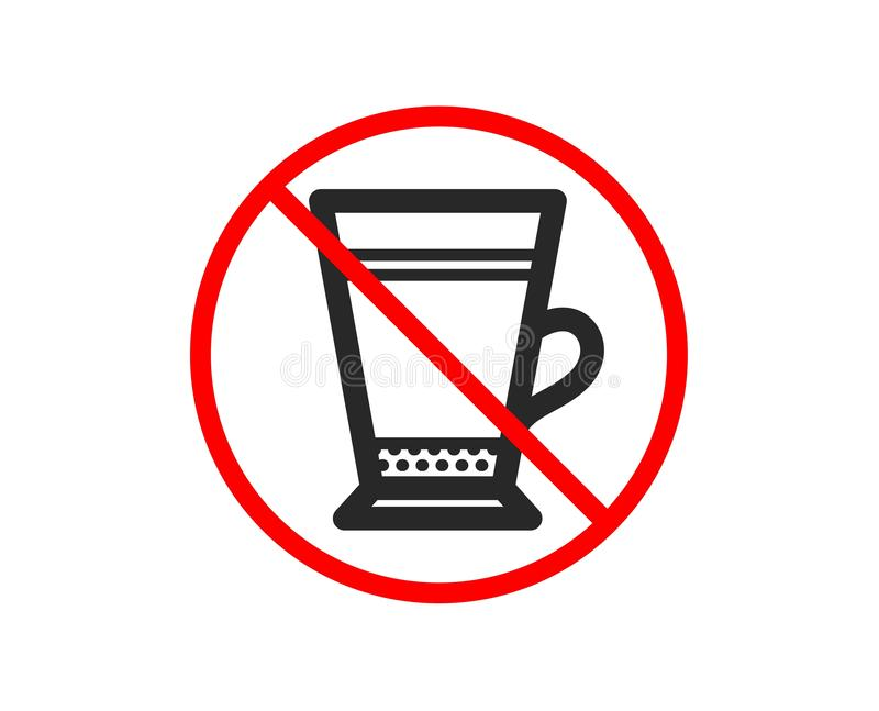 Latte kawy ikona Gorący napoju znak wektor ilustracji