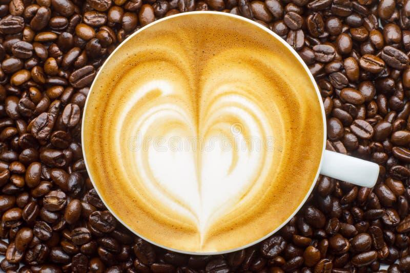 Latte Kunst lizenzfreie stockfotos