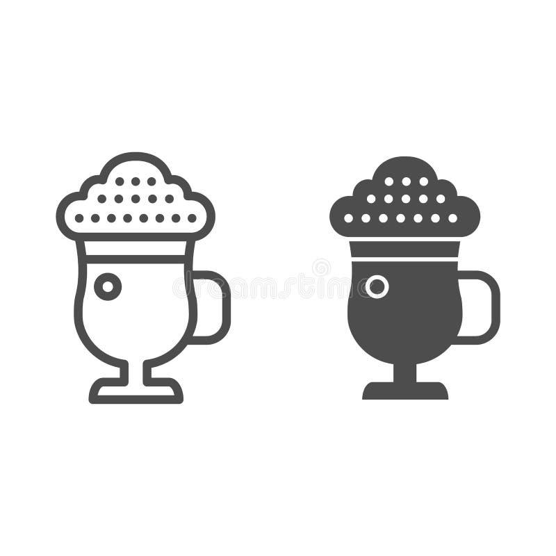 Logo Mockup Circular White Sign: Cafe Latte Mocha Illustration Stock Illustration