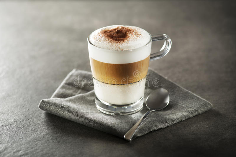 Latte macchiato coffee stock photography