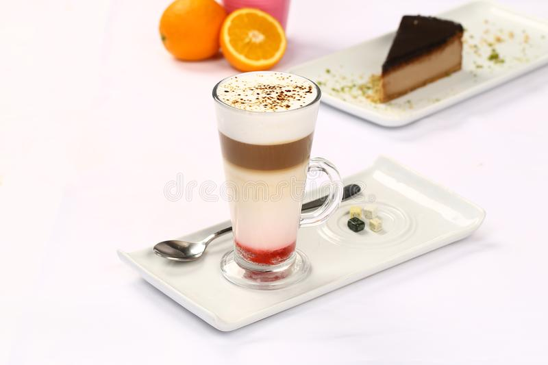 Latte Macchiato do café fotografia de stock royalty free