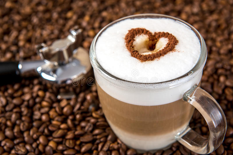 latte macchiato with heart stock image image of commercial 49083035. Black Bedroom Furniture Sets. Home Design Ideas