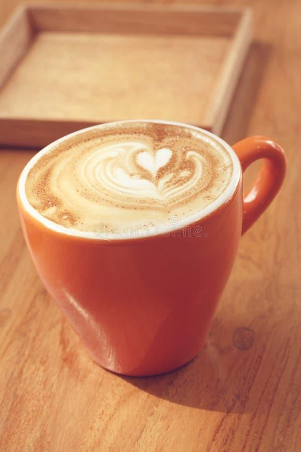 Latte- oder Cappuccinokaffee stockfoto