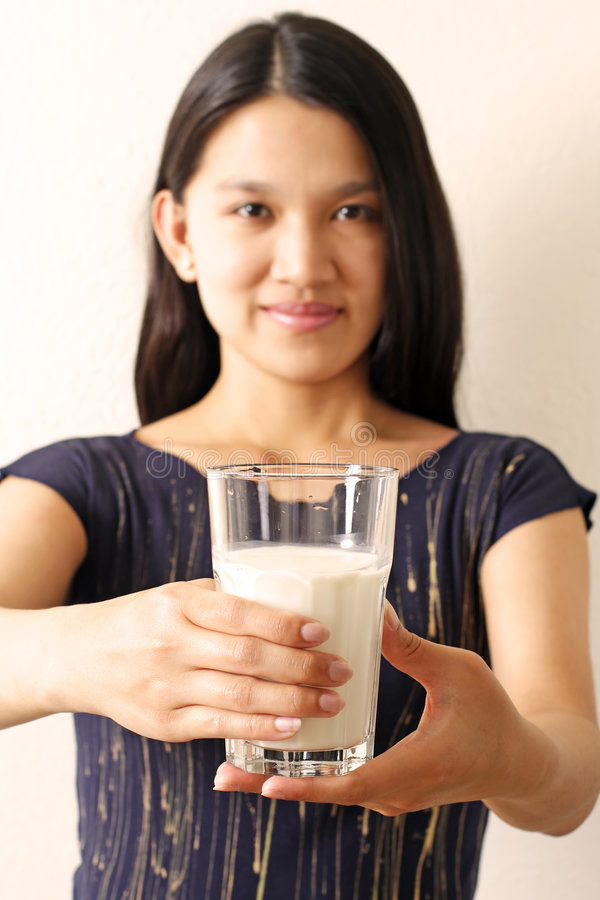 Latte ottenuto? fotografia stock libera da diritti