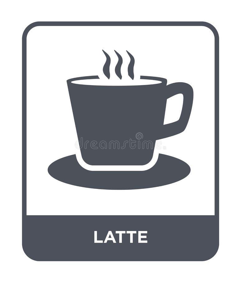 latte pictogram in in ontwerpstijl latte pictogram op witte achtergrond wordt geïsoleerd die latte vectorpictogram eenvoudig en m royalty-vrije illustratie