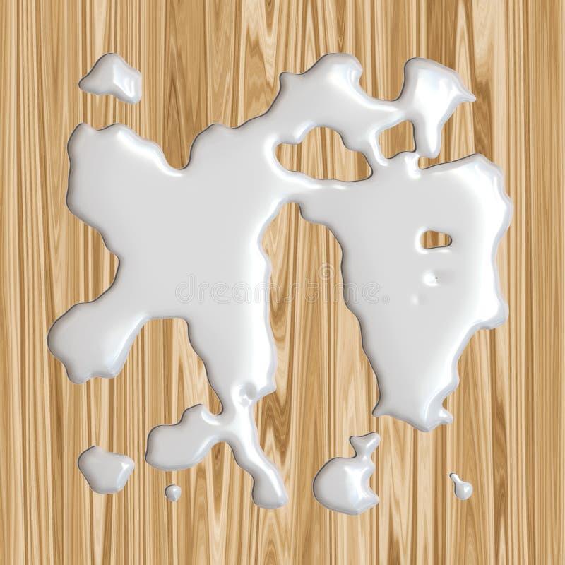 Latte rovesciato! illustrazione vettoriale