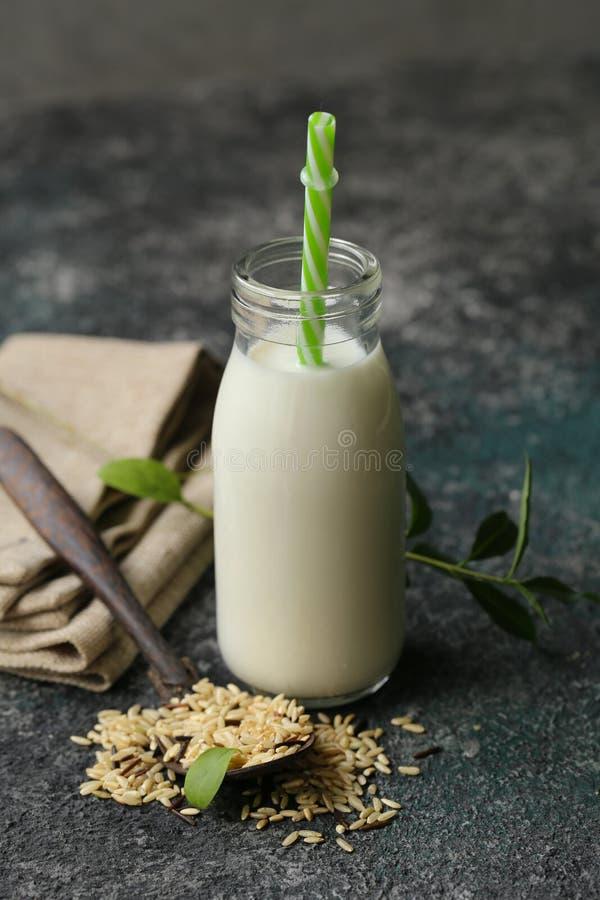 Latte senza lattosio del riso fotografia stock