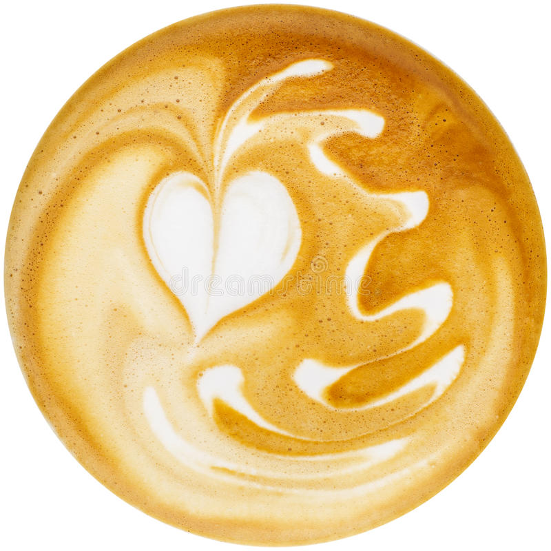 Latte Sztuka fotografia stock