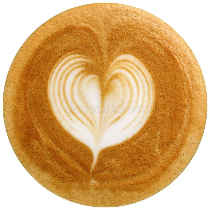 Latte sztuki kawa odizolowywająca w białym tle zdjęcie royalty free