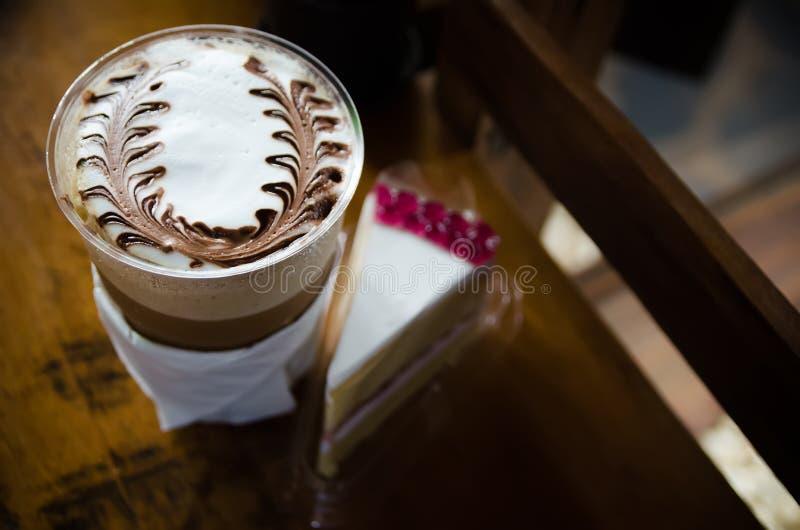 Latte sztuki kawy procesu rocznika styl obraz royalty free