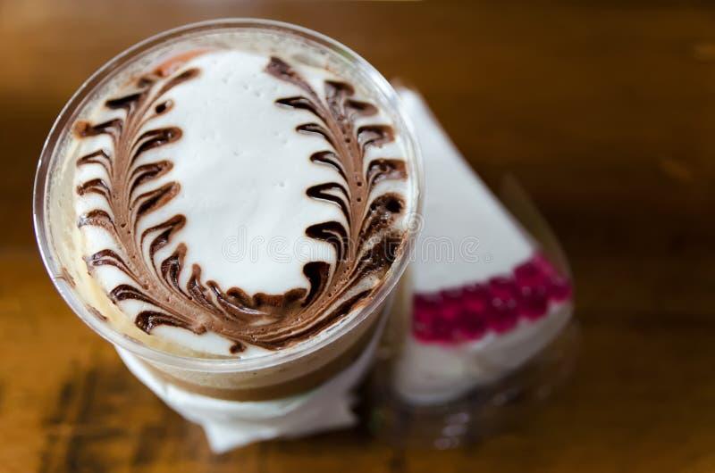 Latte sztuki kawy procesu rocznika styl fotografia royalty free