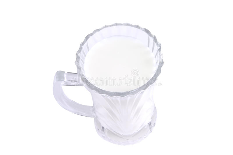 Latte in vetro trasparente fotografia stock