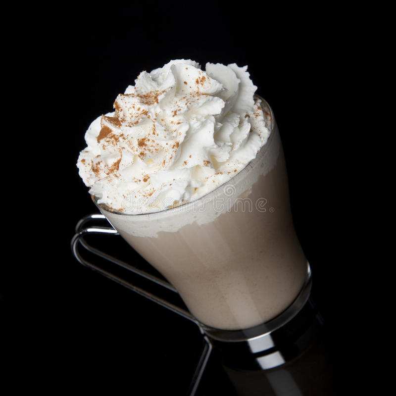 Latte with Whipped Cream royalty free stock images
