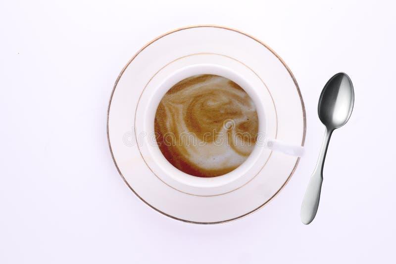 Lattecapuccinokaffe royaltyfri foto