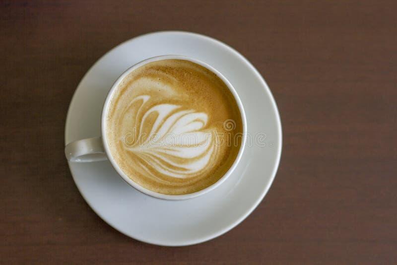 Lattekonst | Café Cappuccion royaltyfri bild