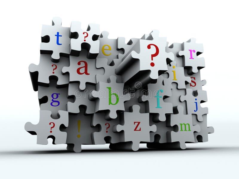 Latters di puzzle illustrazione di stock