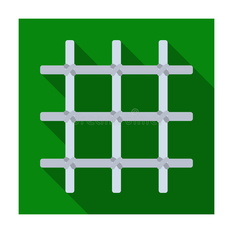 Lattice in the cell of the prisoner. A metal door to hold criminals.Prison single icon in flat style vector symbol stock stock illustration