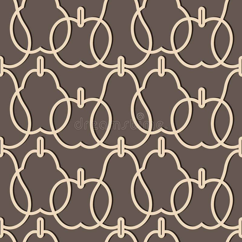 Lattice Pattern With Fruits Royalty Free Stock Photos