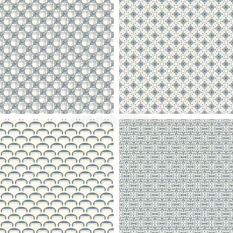 Download Lattice pattern set stock vector. Image of swatch, seamless - 10105327