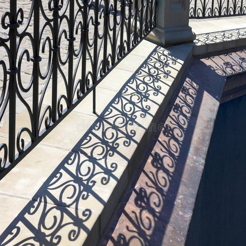 Lattice shadows pattern. royalty free stock photos