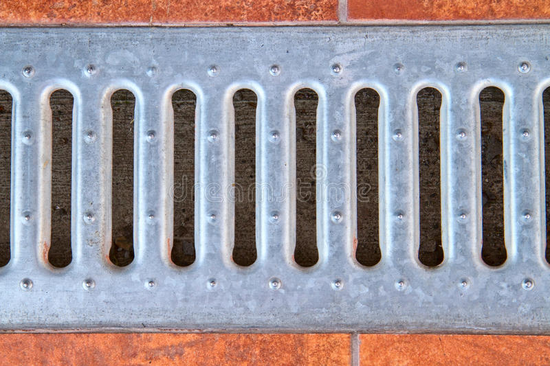 Lattice Of The Storm Water Drain Royalty Free Stock Photography