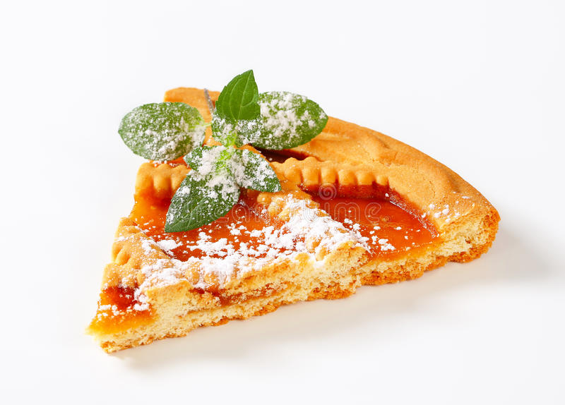Lattice topped apricot tart stock photography