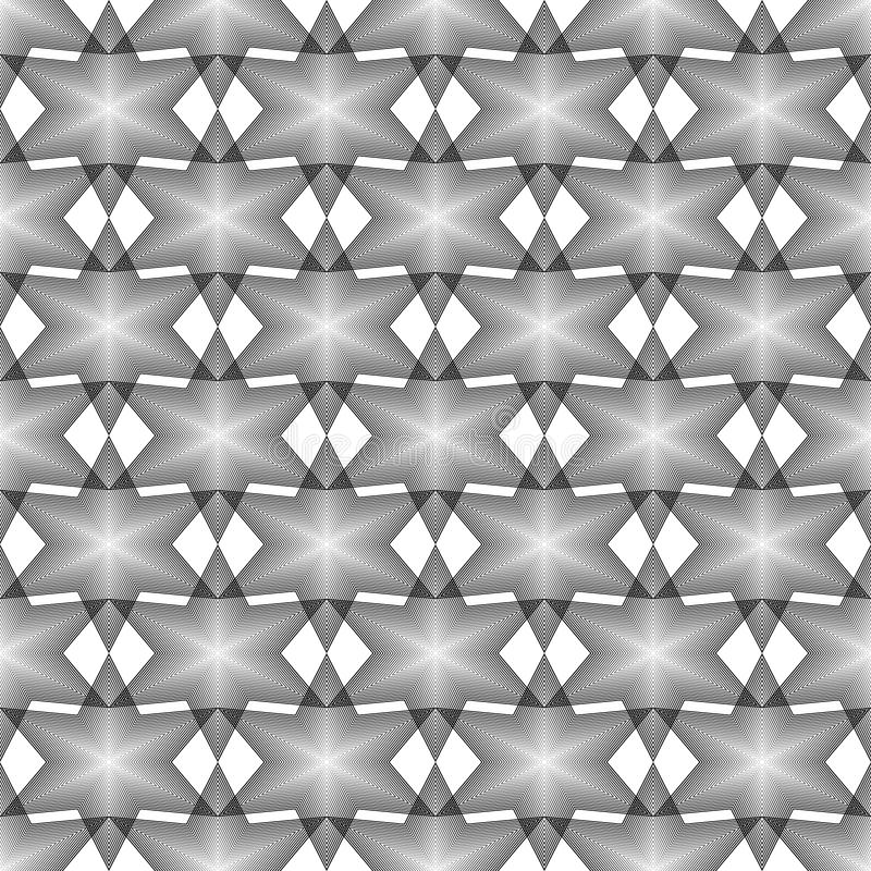 Latticed modell för design sömlös monokrom vektor illustrationer