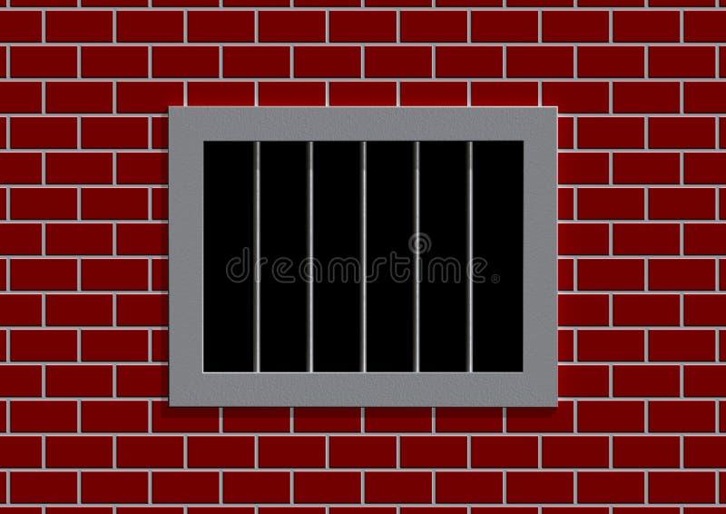 Latticed prison window royalty free illustration