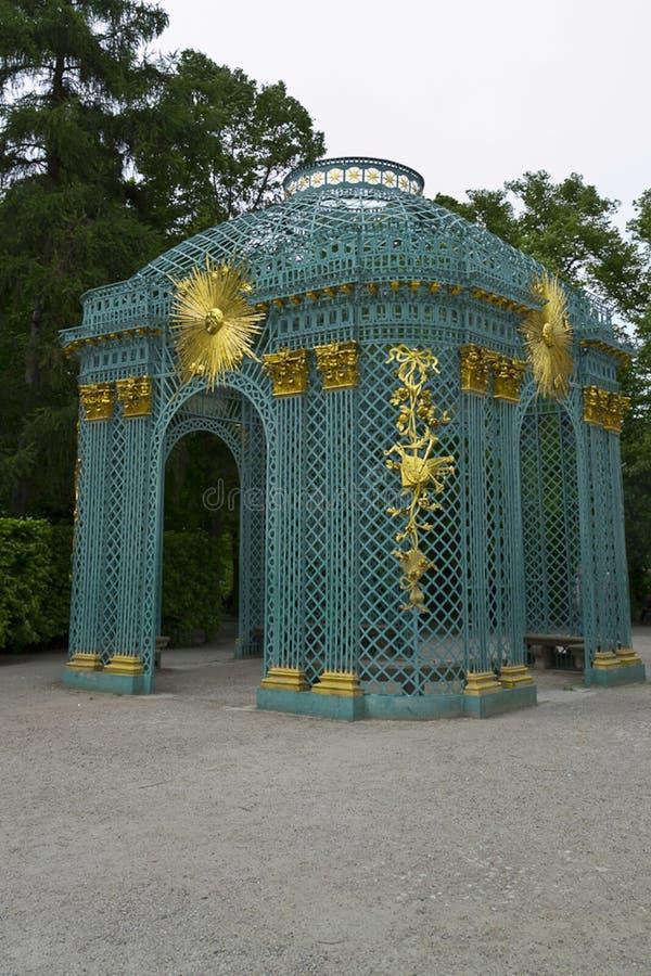 Latticework ogrodowy pawilon obrazy royalty free