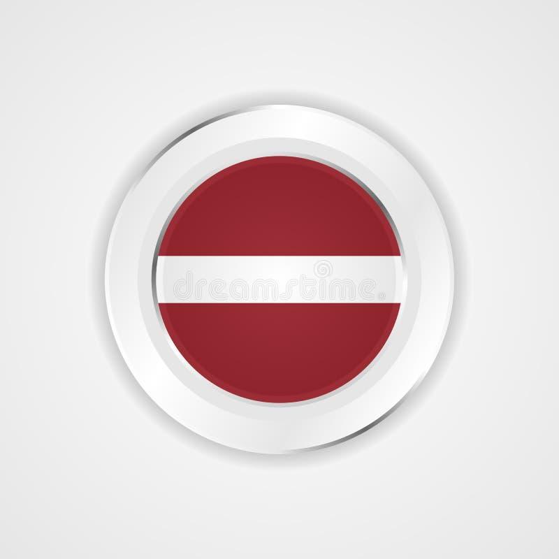 Latvia flaga w glansowanej ikonie royalty ilustracja