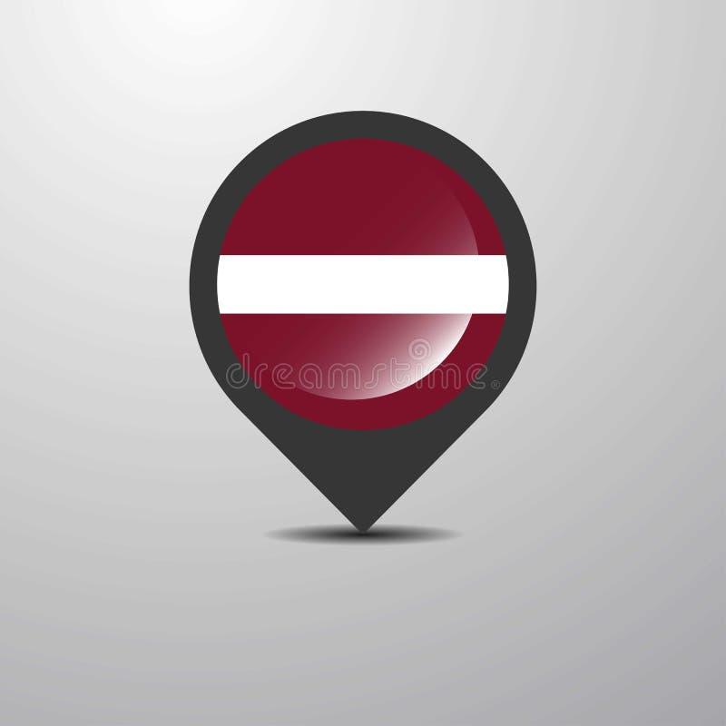 Latvia mapy szpilka royalty ilustracja