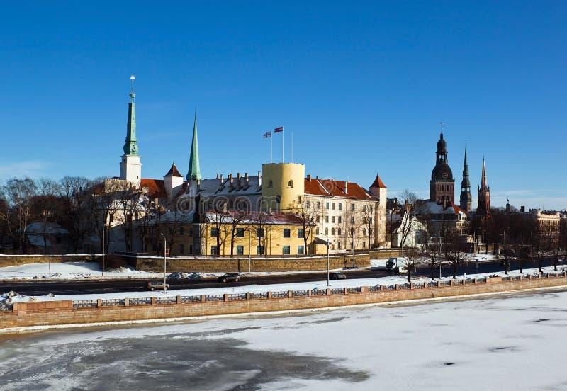 latvian presidentuppehåll riga för slott arkivfoto