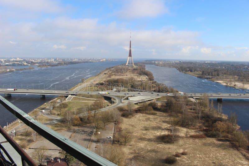Latvian `` Tour Eiffel `` photo stock