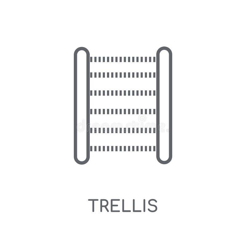 Latwerk lineair pictogram Modern het embleemconcept van het overzichtslatwerk op whit stock illustratie