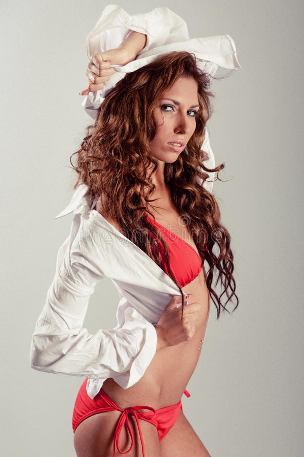 latynosa seksowny wzorcowy zdjęcie royalty free