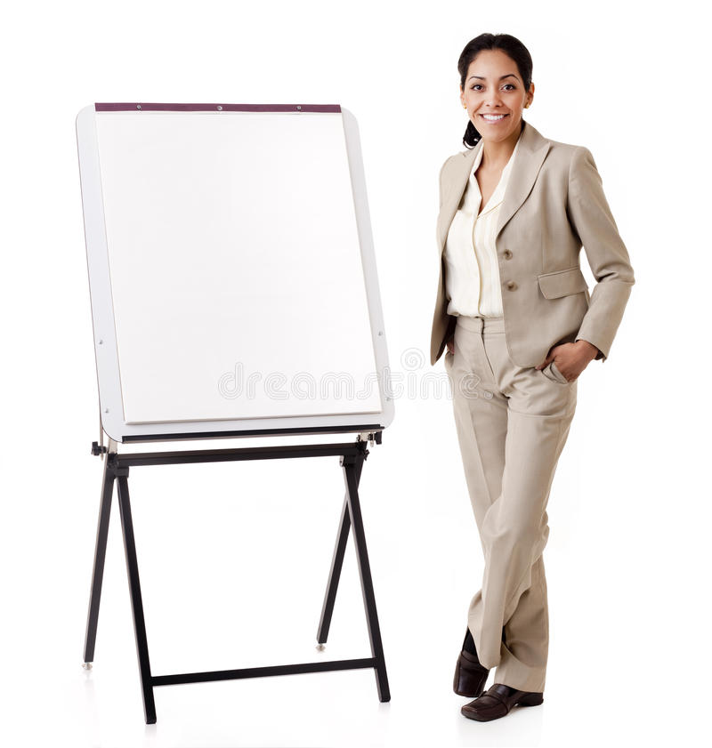 Latynoska biznesowej kobiety prezentacja zdjęcia stock