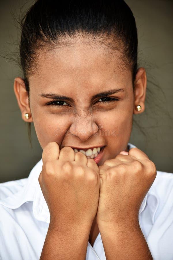 Latynoska kobieta I złość zdjęcie stock