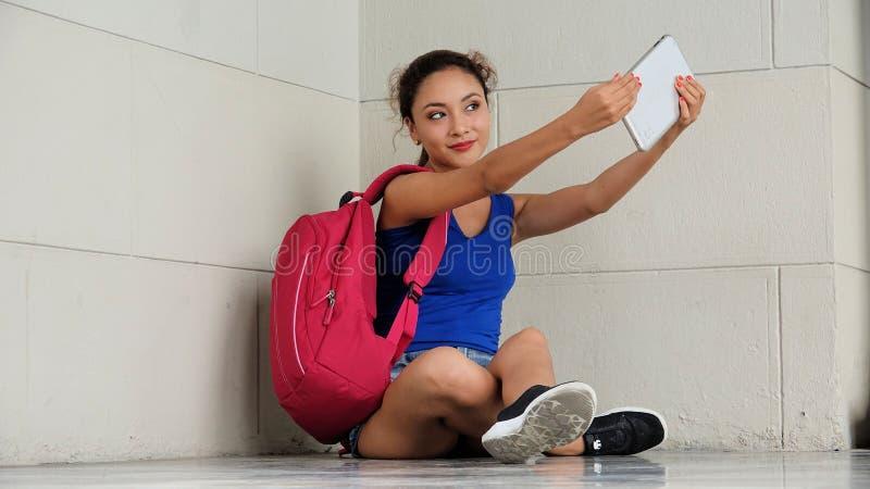 Latynoska kobieta Selfy obraz royalty free