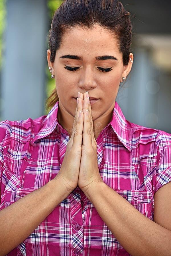 Latynoski Żeński modlenie zdjęcie royalty free
