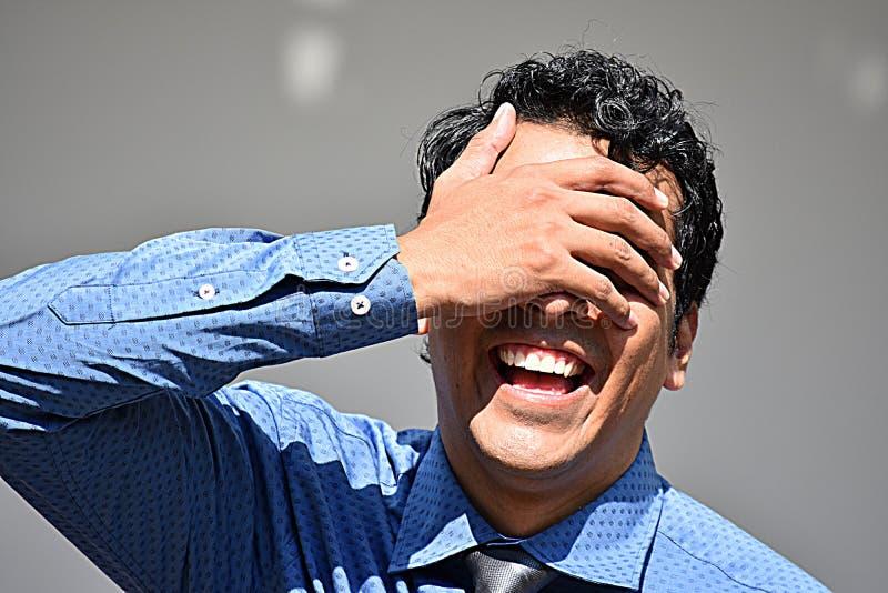 Latynoski biznesmen I śmiech zdjęcia royalty free