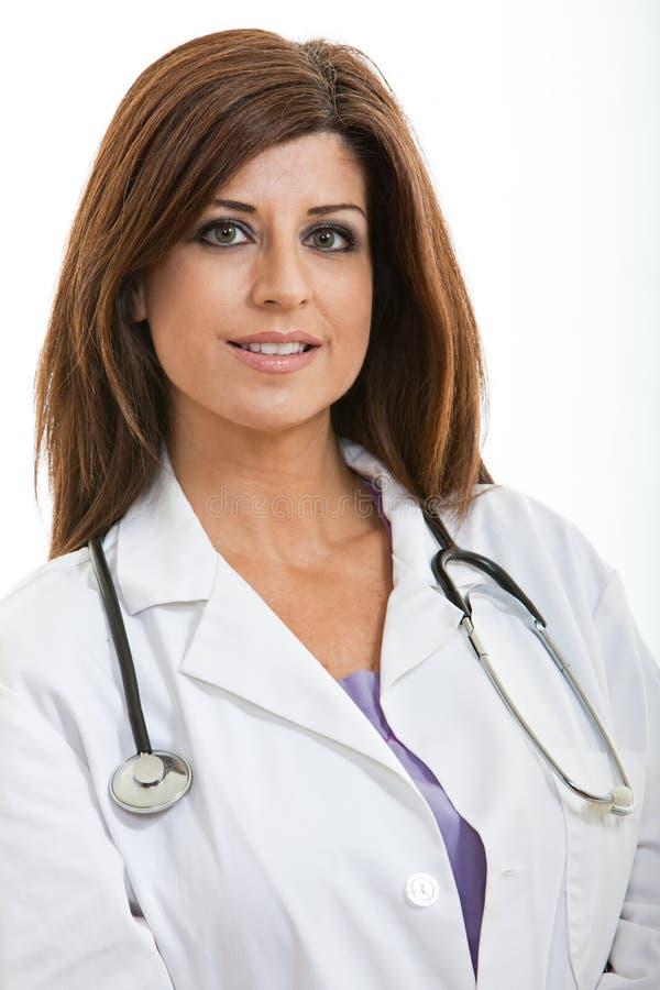 Latynoski brunetki opieki zdrowotnej profesjonalista obrazy stock